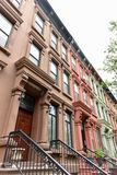 Harlem-Brownstones - New York City Stockfotos