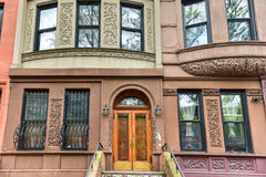 Harlem Brownstones - New York City Stock Image