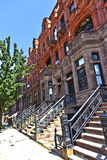 Harlem district and its typical house Stock Images