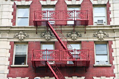 Harlem extensive fire escapes Stock Photos