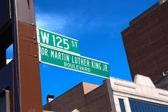 Harlem famous street. Seen during Harlem quarter walking tour at New York Royalty Free Stock Image