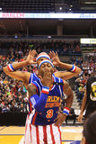 Harlem Globetrotter 'Firefly' Blowing Kisses / Being Silly in Milwaukee, WI. The Harlem Globetrotters put on an entertaining show during their 90th year Stock Photos