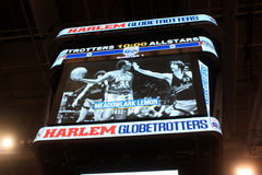 Harlem Globetrotterminnesmärke för Meadowlark Lemon i Milwaukee, WI Royaltyfri Foto