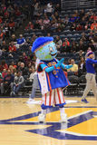 The Harlem Globetrotters Mascot Globie in Milwaukee, WI. Globie performs before the Harlem Globetrotters New Year's Eve game in Milwaukee, WI Stock Photography