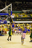 Harlem Globetrotters World Tour. Image of the world famous Harlem Globetrotters basketball team in an exhibition match against Washington Generals held at Shah Royalty Free Stock Photos