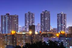 Harlem High Rises. Apartment high rises in uptown Manhattan neighborhood of Harlem stock images