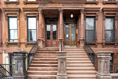 Harlem Houses in New York City Royalty Free Stock Image