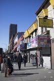 Harlem Streets in New York City stock photo