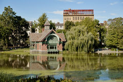 Harlem Meer within Central Park. Royalty Free Stock Images