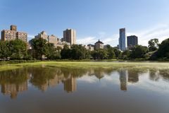 Harlem Meer in Central Park. Royalty Free Stock Photography