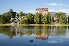 Harlem Meer in Central Park Stock Photography