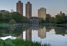 Harlem Meer, Central Park, New York Royalty-vrije Stock Foto