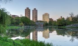 Harlem Meer, Central Park, New York Stock Afbeelding