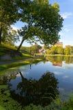 Harlem Meer dans Central Park Images libres de droits