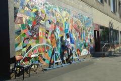 Harlem Mural Stock Image