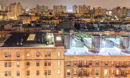 Harlem neighborhood at night, NYC, USA. Royalty Free Stock Image