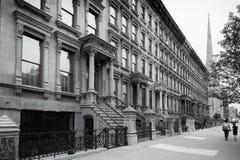 Harlem, New York City, em preto e branco fotografia de stock