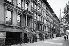 Harlem, New York City, en noir et blanc photographie stock