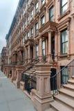 Harlem rödbruna sandstenar - New York City Royaltyfri Fotografi