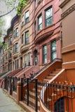 Harlem rödbruna sandstenar - New York City Arkivfoto