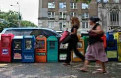 Harlem stoisko z gazetami Zdjęcia Royalty Free