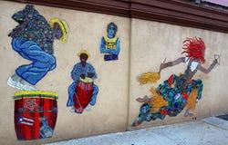 Harlem urban art. Seen during Harlem quarter walking tour at New York Stock Photography
