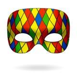 harlequin μάσκα Στοκ Εικόνες