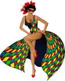 harlequin девушки сексуальный Стоковая Фотография