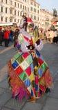 Harlequin Carnival Goer Royalty Free Stock Image