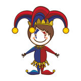 Harlequin character icon image. Vector illustration design vector illustration