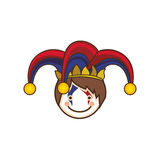 Harlequin character icon image. Vector illustration design royalty free illustration