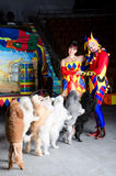 Harlequin and Colombina Royalty Free Stock Photo