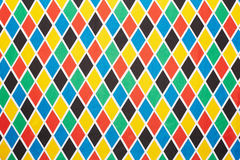 Harlequin colorful diamond pattern background Royalty Free Stock Image