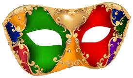 Harlequin gold mask Stock Photo