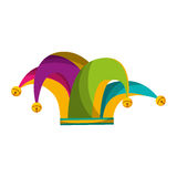 Harlequin hat isolated icon. Vector illustration design Royalty Free Stock Image