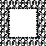Harlequin Hearts Art Background, Frame Stock Image