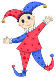 Harlequin isolated. Cartoon harlequin isolated on white. Vector illustration Royalty Free Stock Image