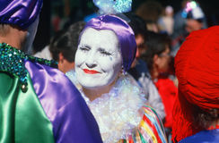 Harlequin at Mardi Gras Festival, New Orleans Stock Photo