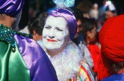 Harlequin at Mardi Gras Festival, New Orleans Stock Photo