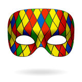 Harlequin mask Stock Images