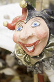 Harlequin mask. Papier smiling, art royalty free stock image