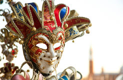 Harlequin mask. Harlequin mask in Venice Stock Photo