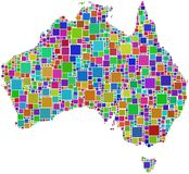 Harlequin mosaic of Australia map Stock Image
