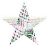 Harlequin mosaic of a Star Stock Photos