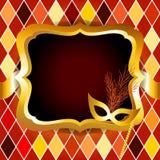 Harlequin o invito venitian della sfera di carnevale Fotografia Stock