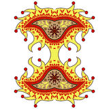 Harlequin paisley ornament vector illustration