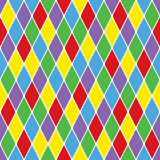 Harlequin particoloured seamless pattern VI. (Illustrator Royalty Free Stock Photos