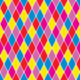 Harlequin particoloured seamless pattern VII. (Illustrator Royalty Free Stock Photos