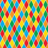 Harlequin's polychromatic mosaic bright cheerful seamless pattern.  vector illustration