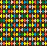 Harlequin seamless background with rhombus Stock Photo